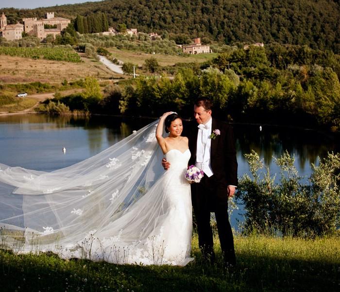 Wedding at Modanella Castle, Siena