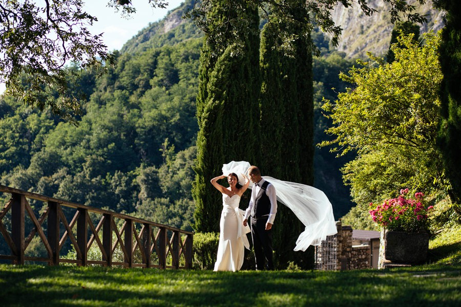 Reception Outdoor at the Castle of Rossino, Lake Como