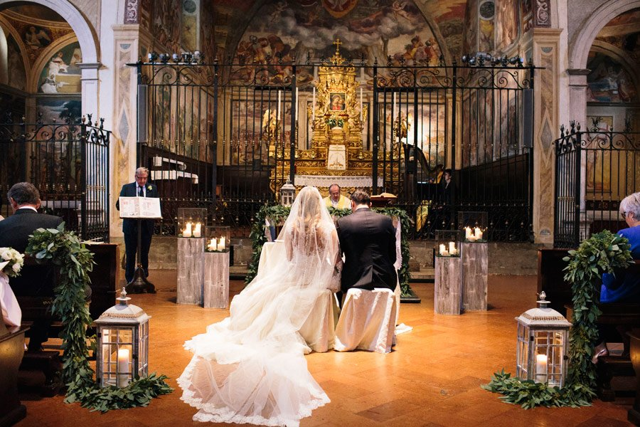 Getting married in a small medieval church