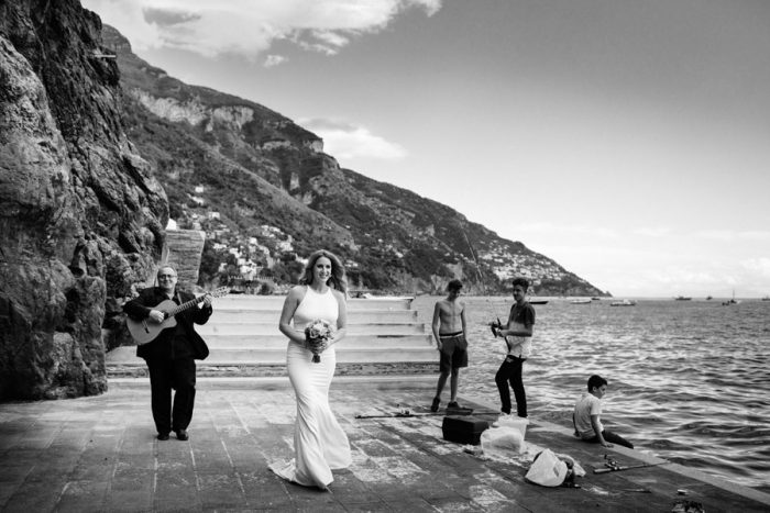 Wedding elopement in Positano
